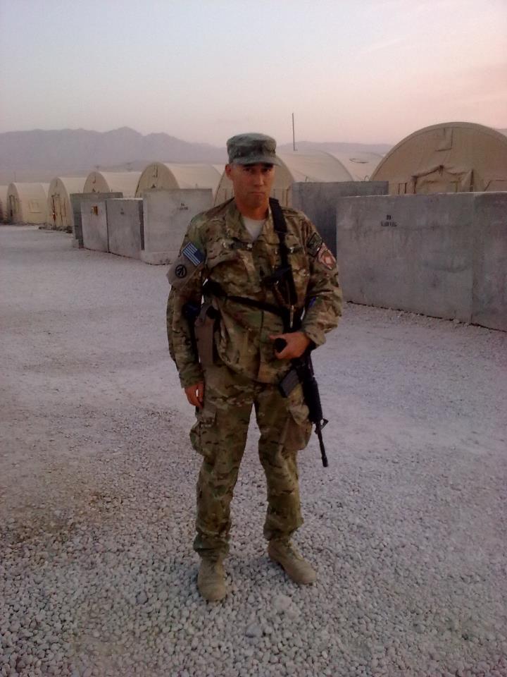Martin Sewell in Afganistan